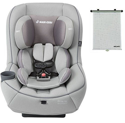 2015 Maxi-Cosi Pria 70 Convertible Car Seat, Grey Gravel with BONUS Retractable Window Sun Shade