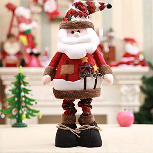 Kongqiabona De pie Figurita retráctil Adornos navideños Niños Regalo navideño Decoraciones navideñas