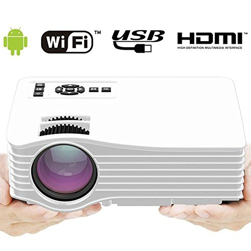 Mini Video Projector for iPhone Android Smartphone, Portable Wifi Wireless Movie Projector Support Airplay Miracast DLAN Outdoors Laptop Game Home Theater