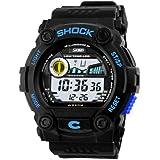 Unisex Fashion Sport Watch Multifunction Multi-colour Led LAnalog Digital Waterproof Alarm Wristwatch