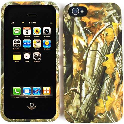 Apple iPhone 5 (AT&T/Verizon/Sprint) Camo/Camouflage Hunter Series, w/ Big Branch Hard Case/Cover/Faceplate/Snap On/Protector BY Covers4Less