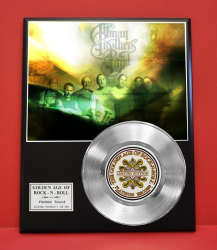 Allman Brothers Limited Edition Platinum Record Display - Award Quality Plaque - Music Memorabilia - from Gold Record Outlet