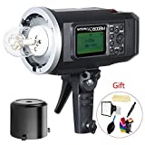 Godox AD600BM Bowens Mount 600Ws GN87 High Speed Sync Outdoor Flash Strobe Light with 2.4G Wireless X System, 8700mAh Battery to Provide 500 Full Power Flashes Recycle in 0.01-2.5 Second