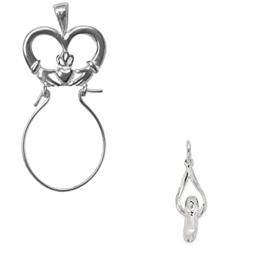 Mireval Sterling Silver Ballet Slipper Charm on a Sterling Silver Chain Necklace 16-20