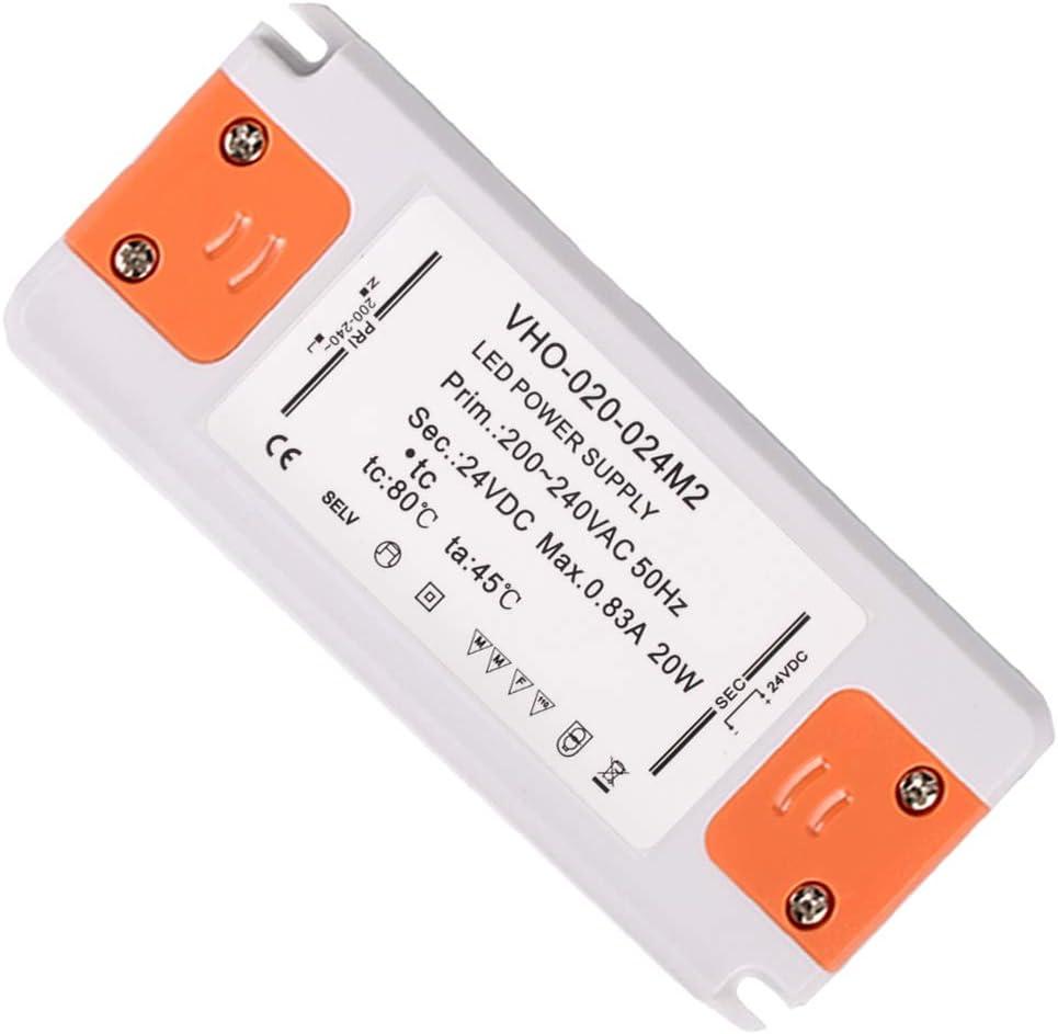 20W 830MA 24V Slim LED Driver Transformer Fuente de Alimentación Medición PL-PCV-12-20