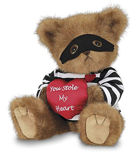Bearington Lawless Lover Valentines Plush Stuffed Animal Teddy Bear with Heart, 10 inches