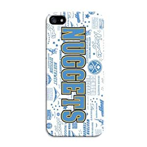 Lifelike Case For Iphone 5C Cover Case With Basketball Nba Denver Nuggets Color Print