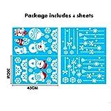 Niviy Christmas Window Stickers Hanging Snowman