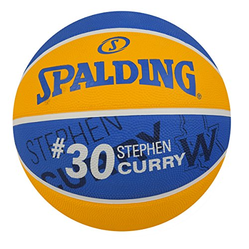 Spalding 83343 Stephen Curry Basketball, Gold/Blue -