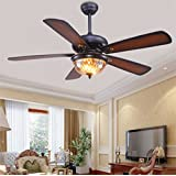 Amazon rustic ceiling fans ceiling fans accessories tropicalfan rustic ceiling fan with 1 glass brown light cover 5 wood reversible blades remote control aloadofball Gallery
