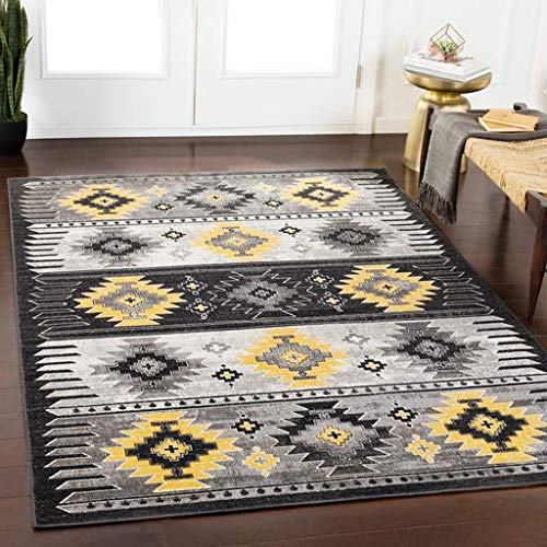 Klossner Moroccan Aztec Southwestern 2' x 3' Rectangle Bohemian/Global 100% Polypropylene Butter/Medium Gray/Black/Charcoal/White Area Rug ()