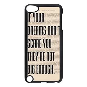iPod 5 Case,Inspirational Quote Hard Snap-On Cover Case for iPod Touch 5, 5G (5th Generation)