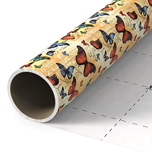 Gift Wrapping Paper Roll with Unique Artwork and Cut Lines 27.5 * 200 inches for Christmas,Birthdays,Weddings,Saint Valentine's Day,Mother's Day, Thanksgiving Day