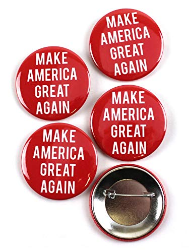 (Make America Great Again Trump Political Pinback Buttons - 2.25 Inch Round - 5 Pack)