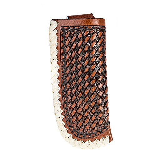 Review Twisted X Brand Cognac Basket Weave Knife Sheath with Raw Hide Trim (XW3-3)