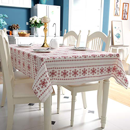 Simple Style Linen Tablecloths Nordic Style Table Cloth Cover Waterproof for Home Decor Party Dining -