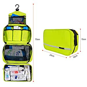 VIVINATURE Waterproof Travel Bag Toiletry Organizer Delicate Hanging Travel Toiletry Bag Tiny Travel Bag for Business(Green)