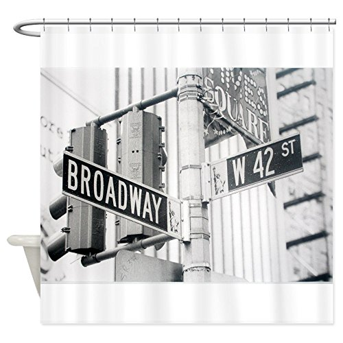 CafePress - NY Broadway Times Square - - Decorative Fabric Shower - Broadway Times And Square