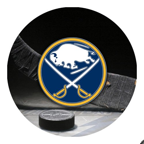 Sabres Hockey Round THICK Mousepad Mouse Pad Great Gift Idea ()