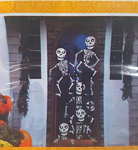 Halloween Door Cover (Skeleton Skull Prisoners in Jail Cage -