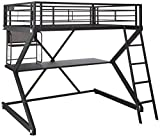 Parkview Full Workstation Loft Bed Black For Sale