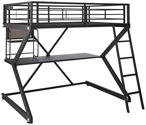Parkview Full Workstation Loft Bed Black - Loft Lower Bunk