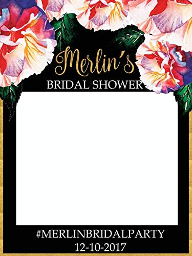 Custom Floral Bridal Shower Photo Booth Frame - Sizes 36x24, 48x36; Bridal Shower, Bridal Shower Photo booth,Floral Handmade Party Supply Photo Booth Props. ()
