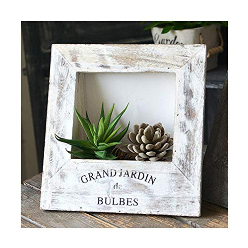 (fairy maker Wooden Frame Planter for Succulent Frame 3D Artificial Flower Airplant Holder, Topiary Plants Holder Rustic Home Decorations)