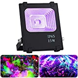 UV Flood Light, OPPSK 15W Outdoor UV Black Light Glow in The Dark Party Supplies for Blacklight Party Birthday Wedding Stage Lighting IP65-Waterproof