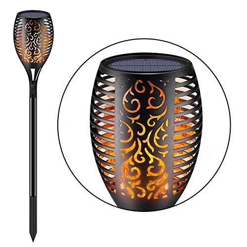 Piqiu Solar LED Torch Light Waterproof Dance Flashing Flame Light Garden Courtyard Lighting Landscape Light Dusk to Dawn Auto On/Off Decorative Light