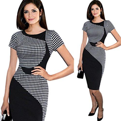 dayseventh-womens-short-sleeve-elegant-business-dress-office-bodycon-dresses-m-black