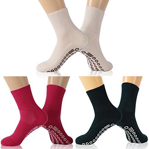 KitNSox Unisex Diabetic Strider Socks, Moisture Wicking Non-Slip Casual Crew Socks for Men Women