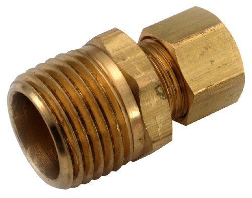 Anderson Metals 750068-0602 3/8-Inch by 1/8-Inch Low Lead Connector, Brass by Anderson Metals Corp.,