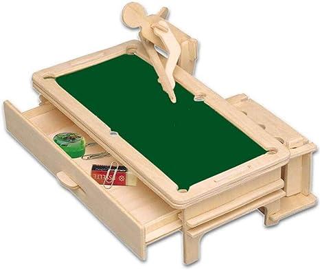 LWANFEI mesa de billar de madera rompecabezas casa mini bola ...