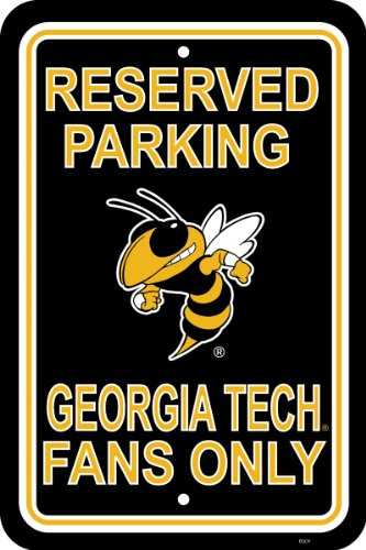 Fremont Jacket - NCAA Georgia Tech Yellowjackets 12-by-18 inch Plastic Parking Sign
