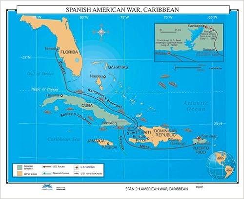 Amazon spanishamerican war caribbean us history wall maps spanishamerican war caribbean us history wall maps gumiabroncs Gallery