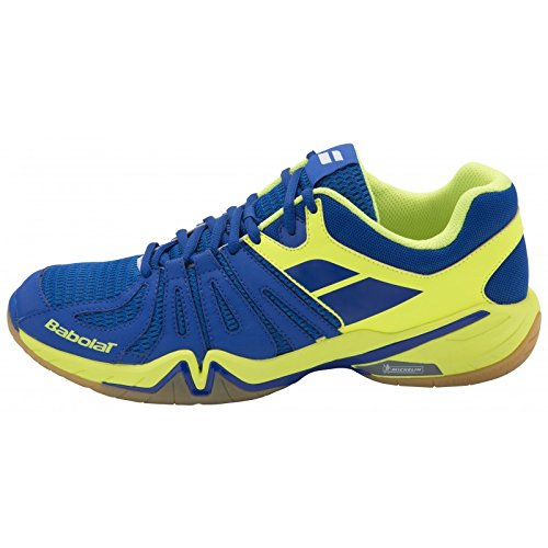 Babolat Men`s Shadow Spirit Tennis Shoes Blue and Yellow - (30S1611-235U16)