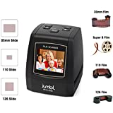 Jumbl 22MP All-In-1 Film & Slide Scanner w/Speed-Load Adapters for 35mm Negative & Slides, 110, 126, Super 8 Films