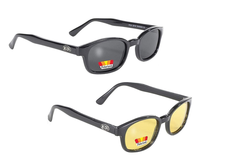 Original KDs Biker Sunglasses with Polarized Smoke Lenses
