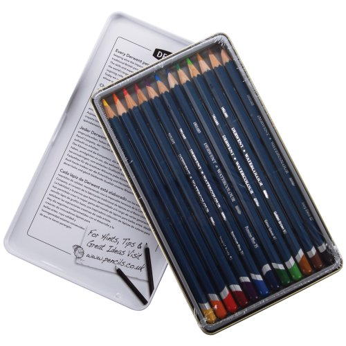 Derwent Watercolor Pencil Tin, 12-Pack (Watercolor Collection Derwent)