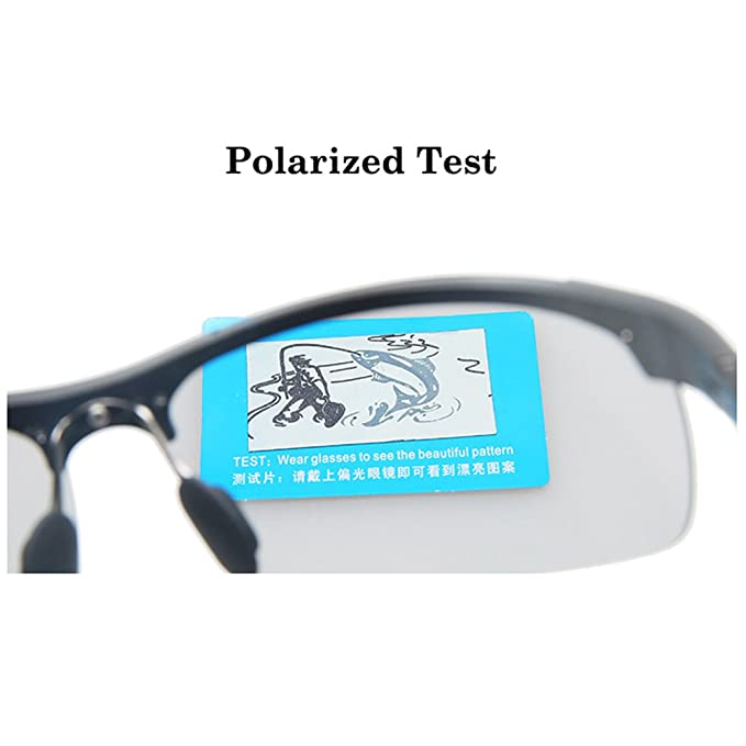 e37b858a438 Amazon.com  MOTELAN Men s Photochromic Polarized UV400 Sunglasses for Outdoor  Fishing Golf Beach Baseball Sports Black  Clothing