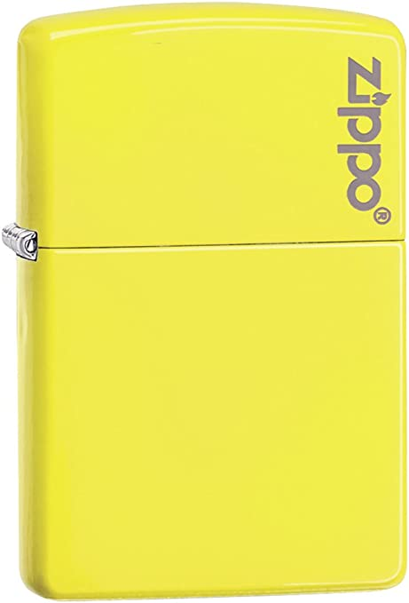 Zippo Neon Yellow Mechero, Metal, Amarillo, 3.5x1x5.5 cm: Amazon ...