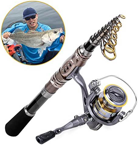 Fishing Rod + Reel Combos, Highsound Fishing Pole Set Saltwater Freshwater Kit, Full Accessories Package Set Optional