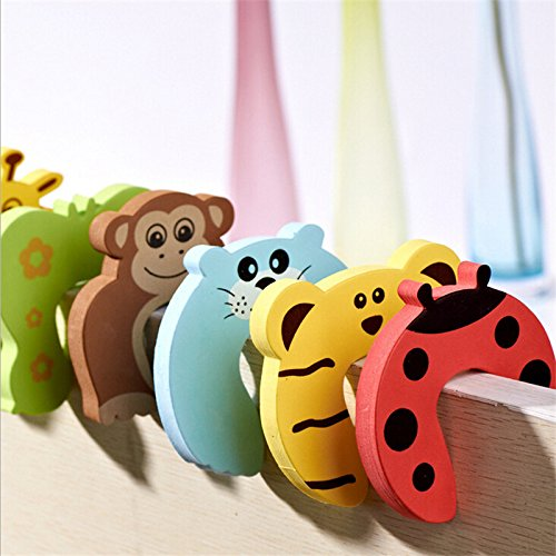 10pcs/lot Kids Baby Cartoon Animal Jammers Stop Edge Corner Guards Door Stopper Holder Lock Baby Safety Finger Protector by Samy Best (Image #6)