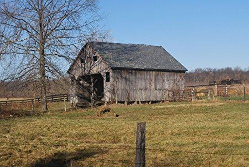 Old Barn Landscape Poster Print