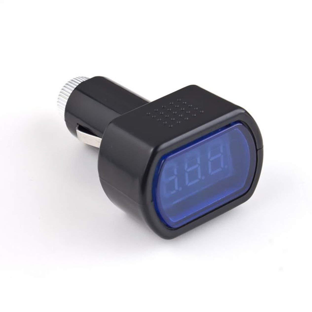 Colore: Nero per Auto e Veicoli Misuratore di Tensione Elettrico Universale con Display Digitale a LED EdBerk74 voltmetro
