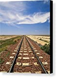 """A View Of The Indian Pacific Railroad"" by National Geographic, Canvas Print Wall Art, 8"" x 10"", Black Gallery Wrap, Glossy Finish"