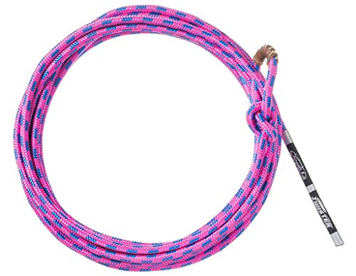 Tough-1 Lariat Braided Kid Rope Weave Tied Honda Pink 25' 58-7900