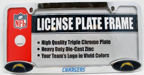 - San Diego Chargers Triple Chrome License Plate Frame
