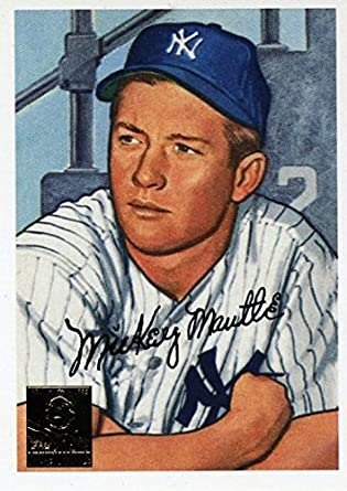 27bfeaad928 Mickey Mantle 1996 Topps Commemorative Card  20 in 1952 Bowman Design in  Mint Condition!